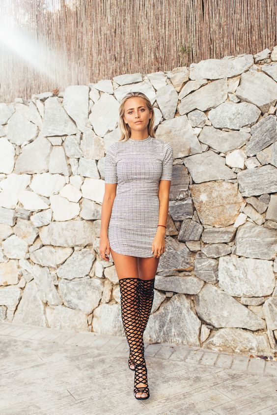 Janni Deler Over Knee Caged Boots