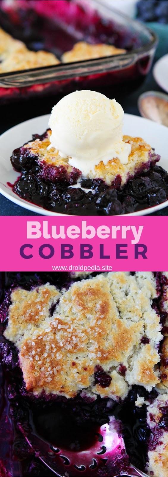 Blueberry Cobbler #dessert #blueberry #cobbler
