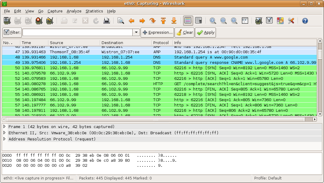 Wireshark Packet Sniffer