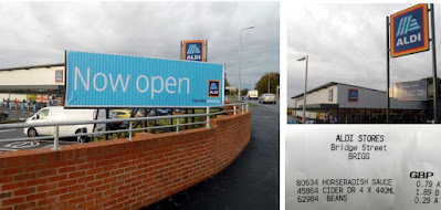 The Aldi store in Brigg on the day it opened - September 24, 2020 with low prices on offer to shoppers