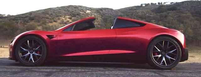 Tesla Roadster Head to head with Bugatti Chiron