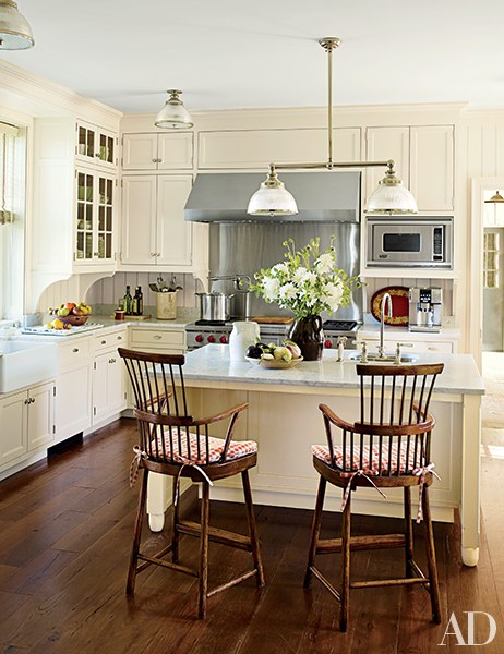 Beautiful Country Farmhouse Kitchen In Architectural Digest On Pinterest ...