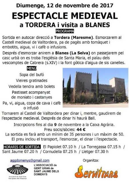 Esguard de Dona - Excursió a Tordera i Blanes - Espectacle Medieval