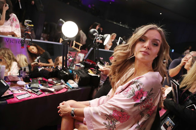 Josephine Skriver on the Backstage at 2017 Victoria's Secret Fashion Show in Shanghai