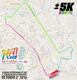Rute Lomba KAI Run 2016 Bandung Gudang Persediaan PT Kereta Api Indonesia