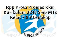 Rpp Prota Promes Kkm Kurikulum 2013 Smp MTs Kelas 7 8 9 Lengkap