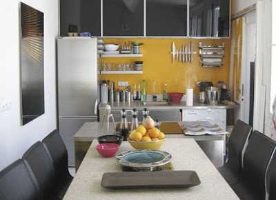Small neat kitchen storage solutions design