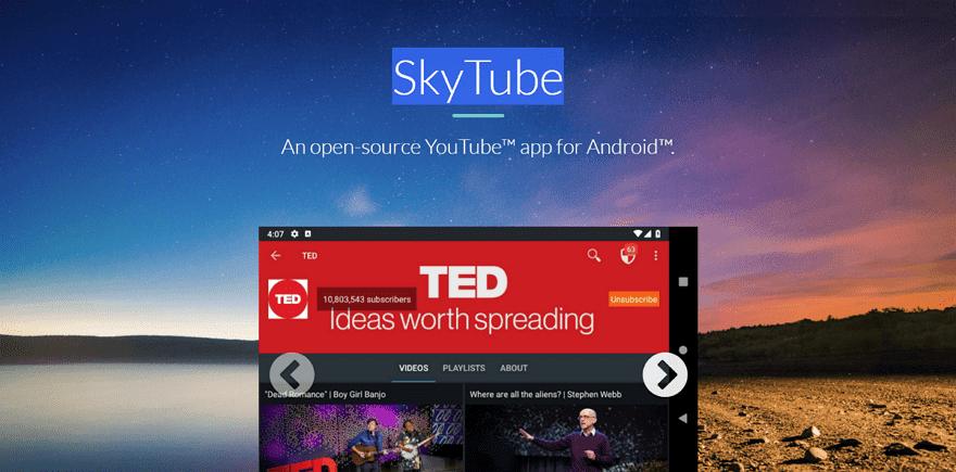 免費開源 SkyTube  App 支援下載功能