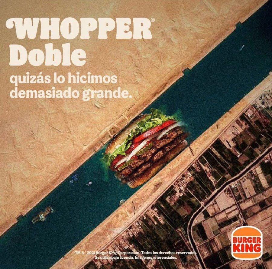 Burger King blocking the Suez Canal