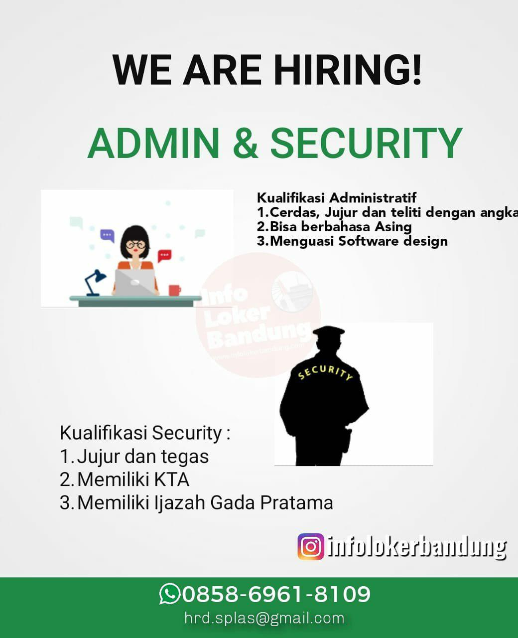 Lowongan Kerja Admin & Security Perusahaan Manufaktur Plastik Bandung September 2019