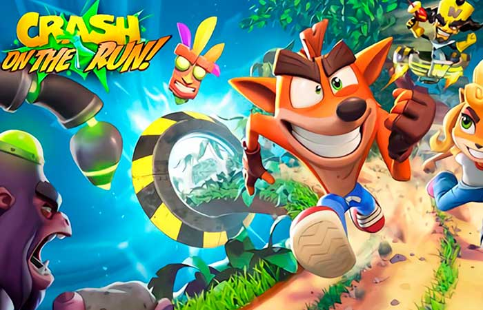 crash bandicoot on the run movil