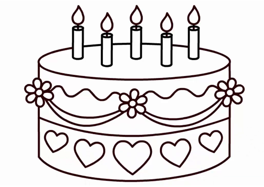 image relating to Cake Printable known as Wedding ceremony Cake Coloring Webpages For Little ones - Printable Absolutely free