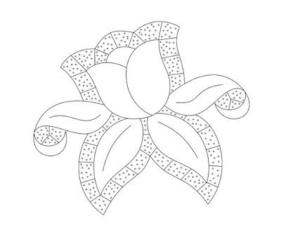 Cutwork embroidery design - Disegno per Ricamo ad intaglio
