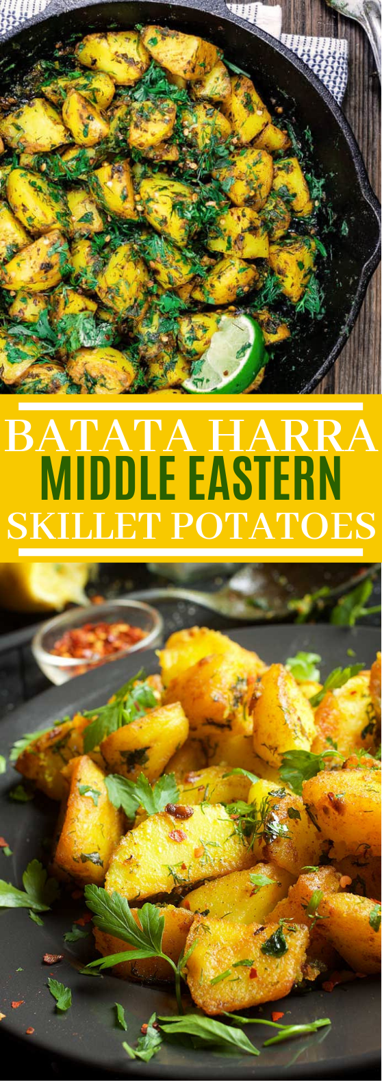 Batata Harra: Middle Eastern Skillet Potatoes #vegan #glutenfree
