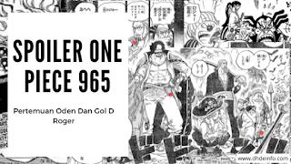 Spoiler One Piece 965 : Pertemuan Oden Dan Gol D Roger