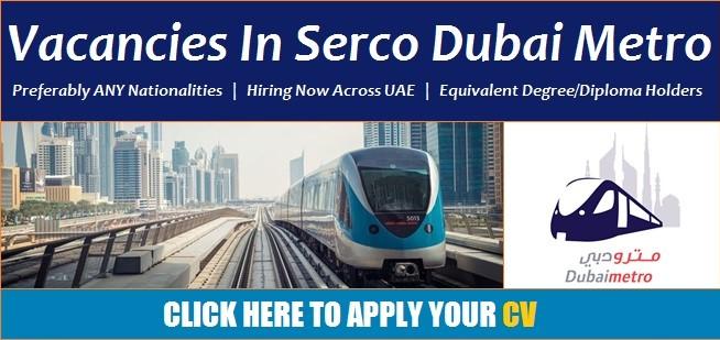 Dubai Metro Jobs 2021 Latest Opportunities Offered For UAE