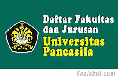 daftar fakultas dan jurusan univ pancasila