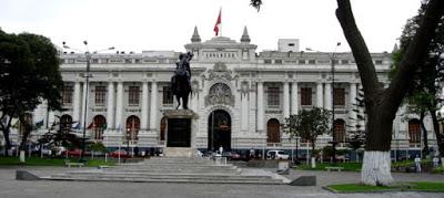 Fachada del Congreso de la República del Perú