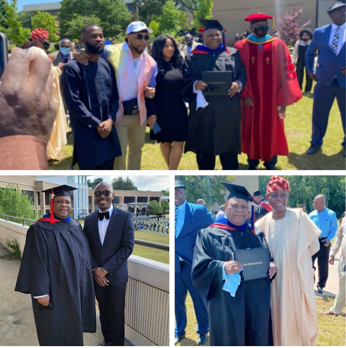 Dancing Senator And Davido's Uncle, Ademola Adeleke, Bags Degree From US University (Photos)