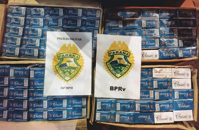 Pitanga: Dupla é presa com cigarros contrabandeados do Paraguai