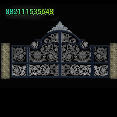 pagar besi tempa adalah pintu gerbang besi tempa