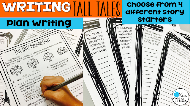 Writing: planning a Tall Tale using Thanksgiving Story Starters