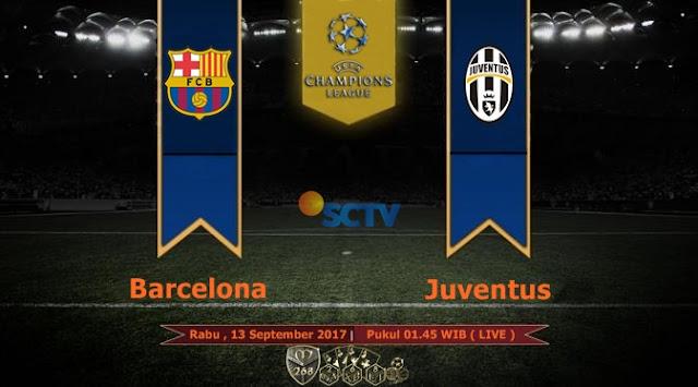 Prediksi Bola : Barcelona Vs Juventus , Rabu 13 September 2017 Pukul 01.45 WIB @ SCTV
