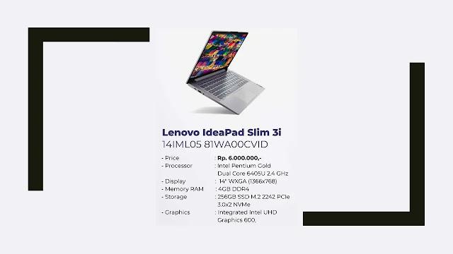 Laptop Lenovo IdeaPad Slim 3i