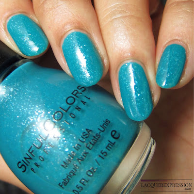 nail polish swatch of Tealing Power by Sinful Colors sinfulcolors