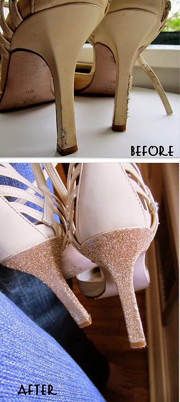 personalizar zapatos con purpurina