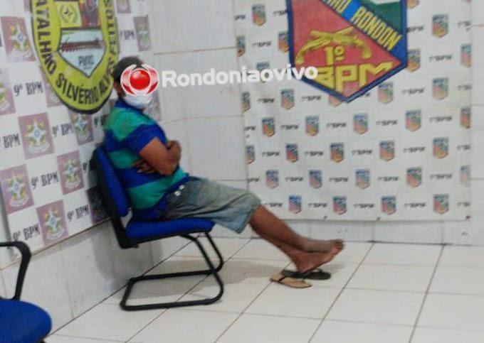 TARADO: Homem é preso após passar as mãos nas partes íntimas de comerciante