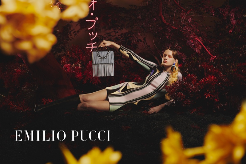 Kat Carter stars in Emilio Pucci fall-winter 2019 campaign