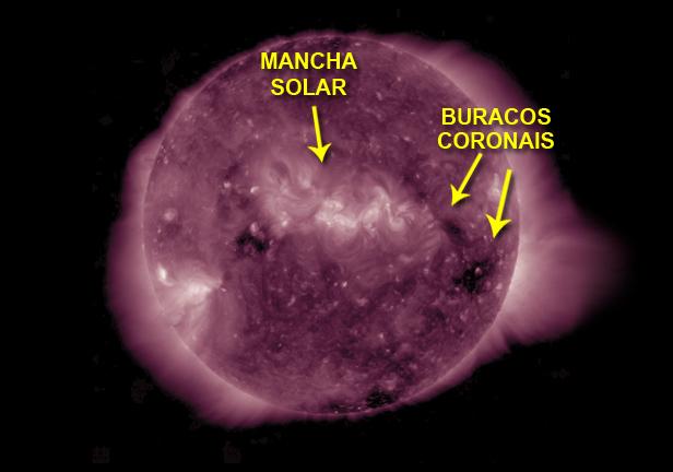 mancha solar e buracos coronais - outubro de 2016 - AIA 211