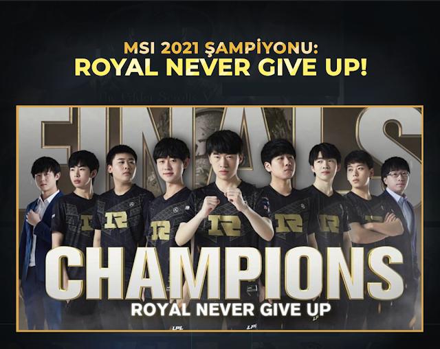 Msi'da Favoriler Çarpıştı! | RNG vs DK | Royal Never Give Up MSI 2021 Şampiyonu!
