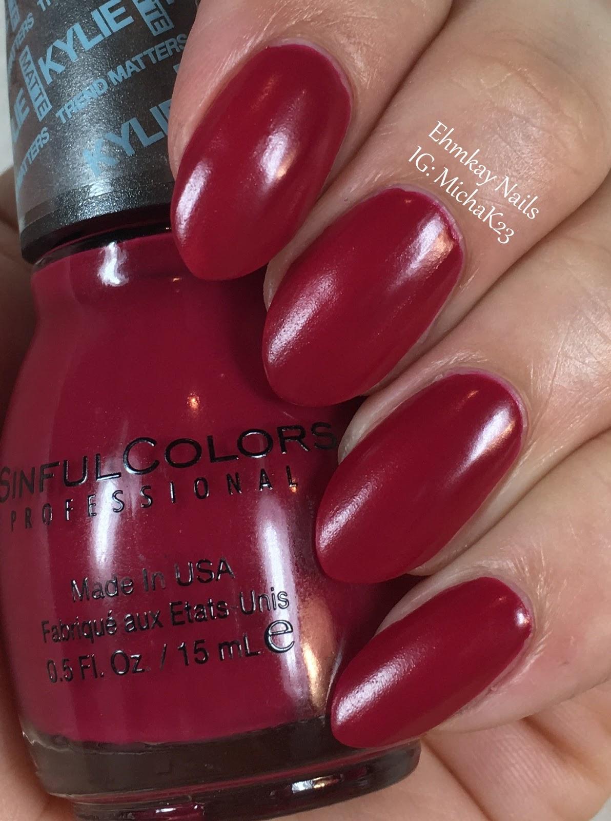 Ehmkay Nails Sinful Colors Kylie Jenner Trend Matters Pure Satin Matte Collection Partial Review