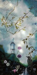 art, artforsale, art for sale, kunst til salg,paintting, malerilandscape, watertower
