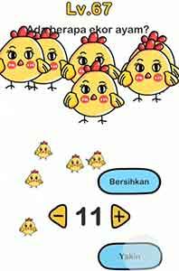 Jawaban brain out ekor ayam ada berapa? ada 11 ekor ayam
