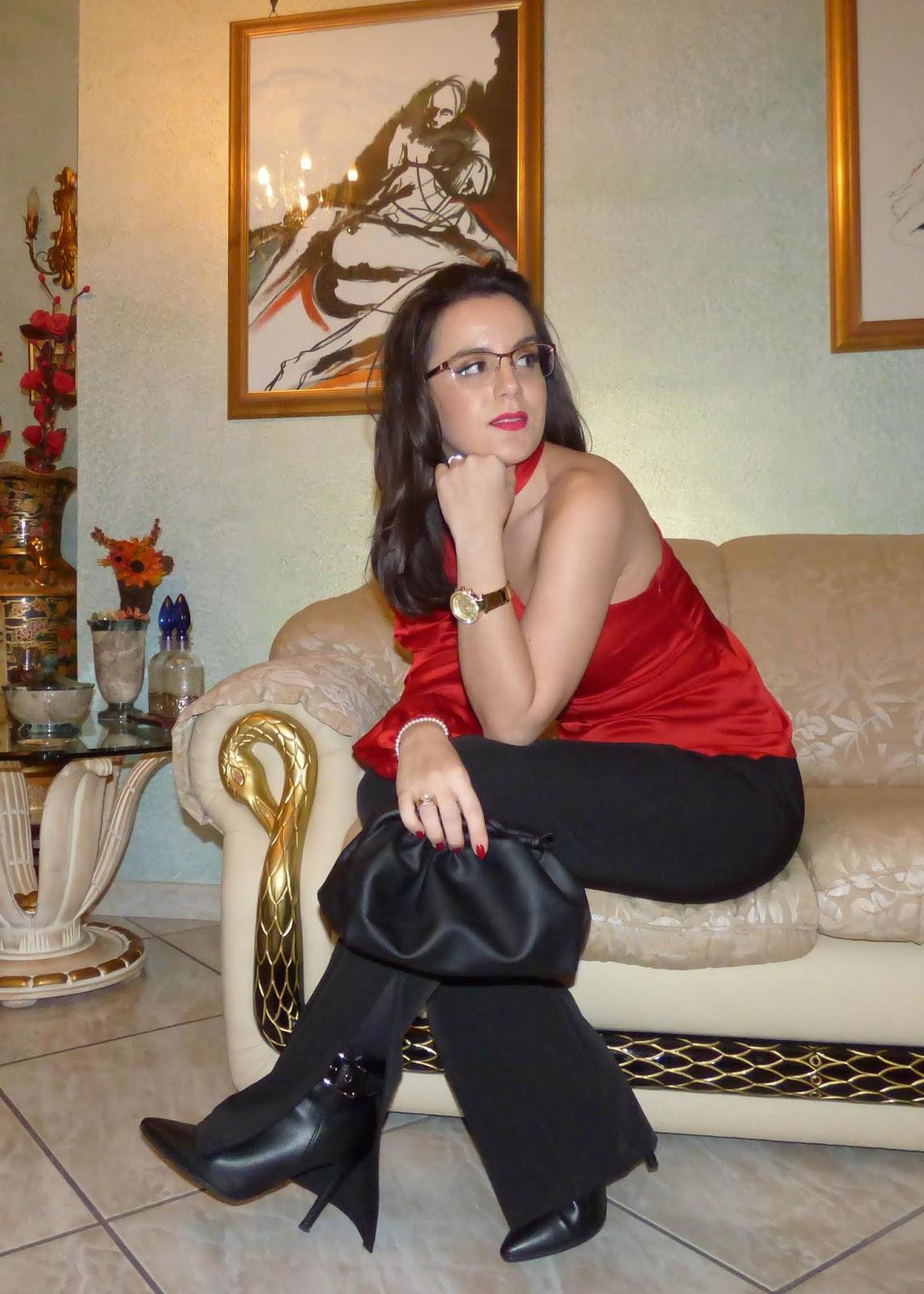 look natalizio rosso e nero