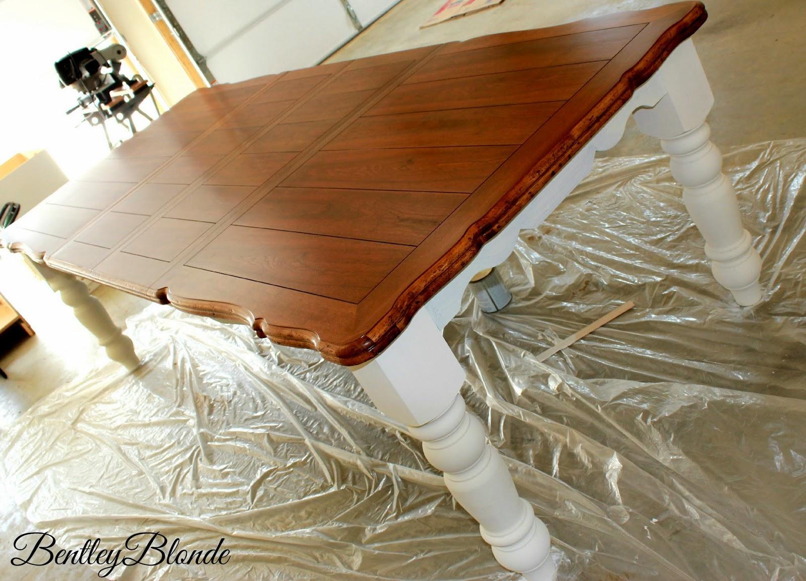 Bentleyblonde Diy Farmhouse Table Amp Dining Set Makeover