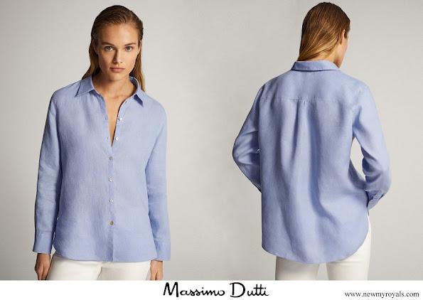 Kate Middleton wore Massimo Dutti linen shirt