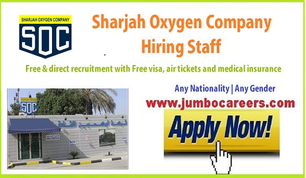 Free direct recruitment jobs in Sharjah, Sharjah company jobs for Indians,