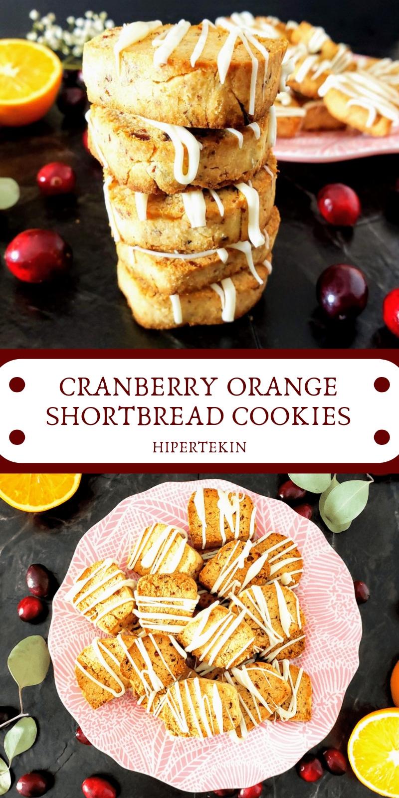 CRANBERRY ORANGE SHORTBREAD COOKIES