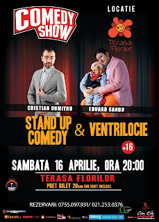 Stand-up Comedy & Ventrilocie Sambata 16 Aprilie Bucuresti