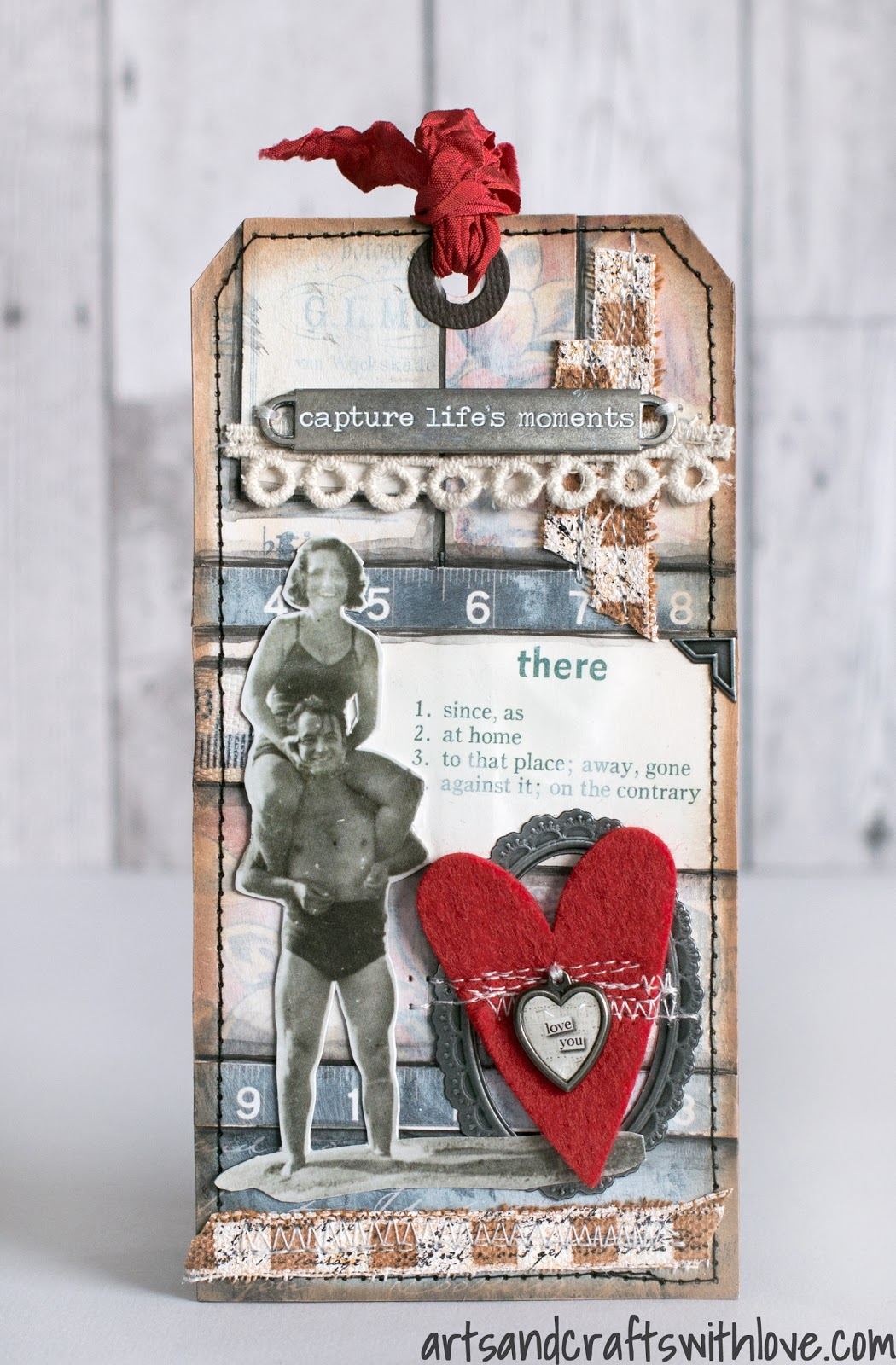Cardmaking: February tag in series '12 Tags of 2015'