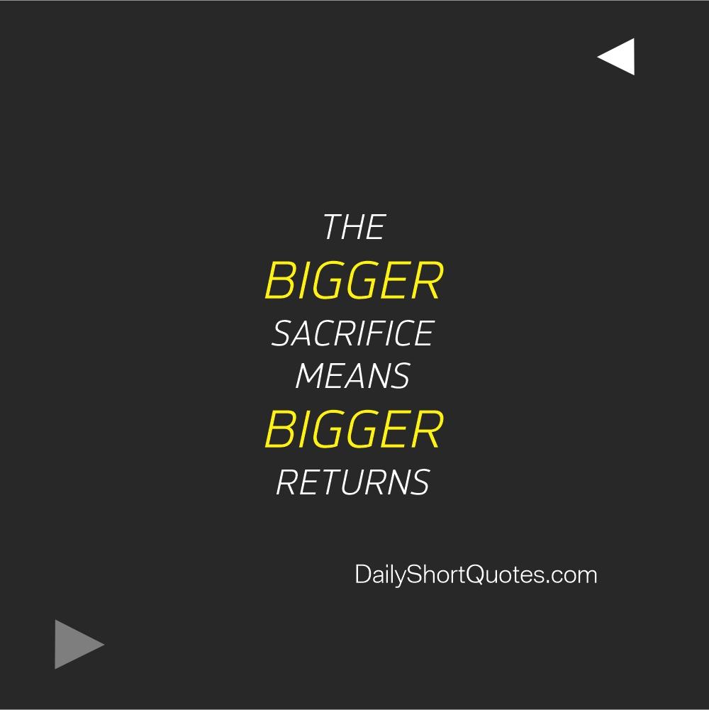 Cool Attitude Captions on sacrifice