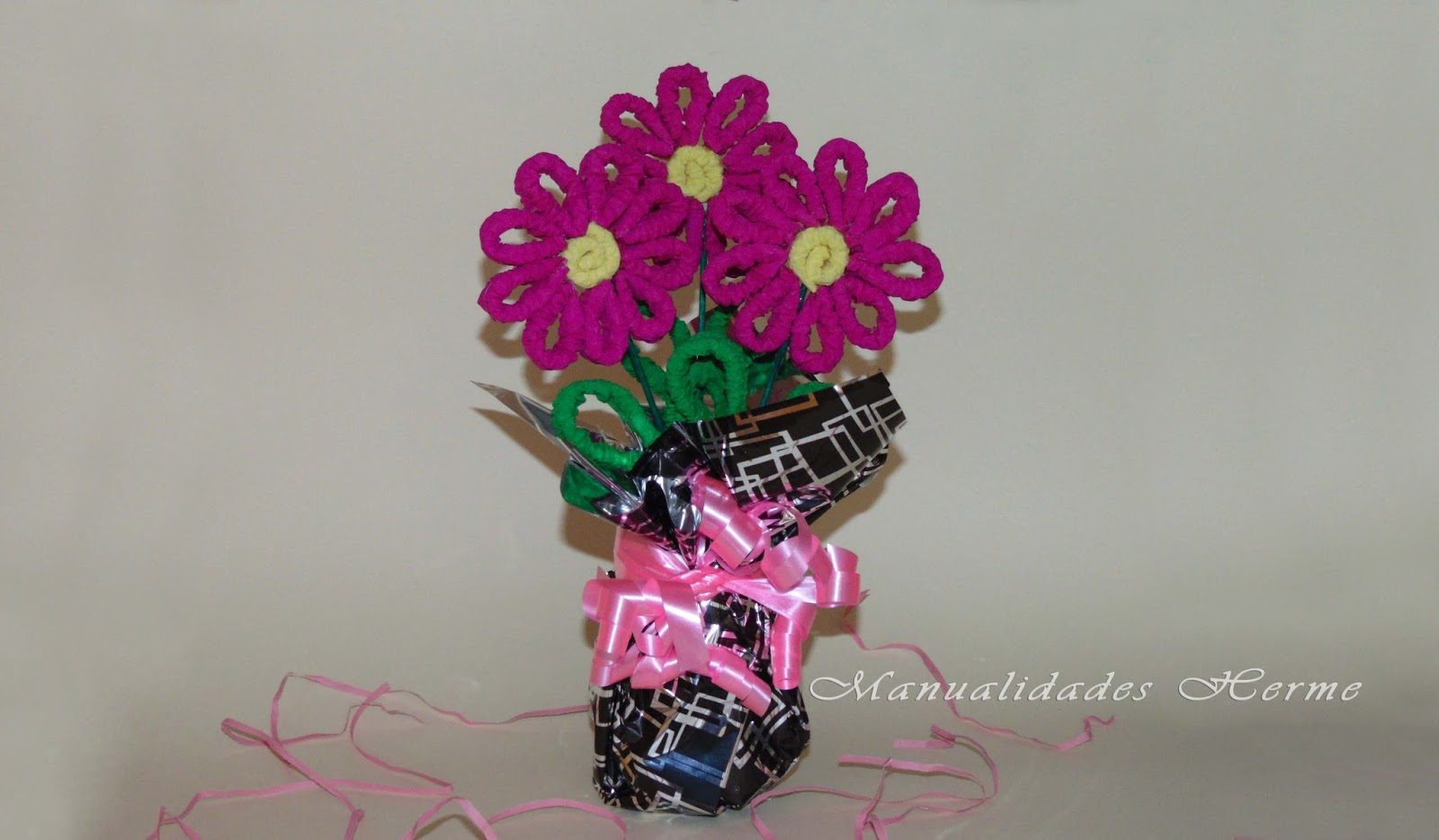 Manualidades Herme Hacer Flores De Papel Crepe - Hacer-flores-con-papel