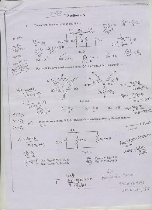 DRDO CEPTAM 8 ECE Previous Year 2008 Question Paper