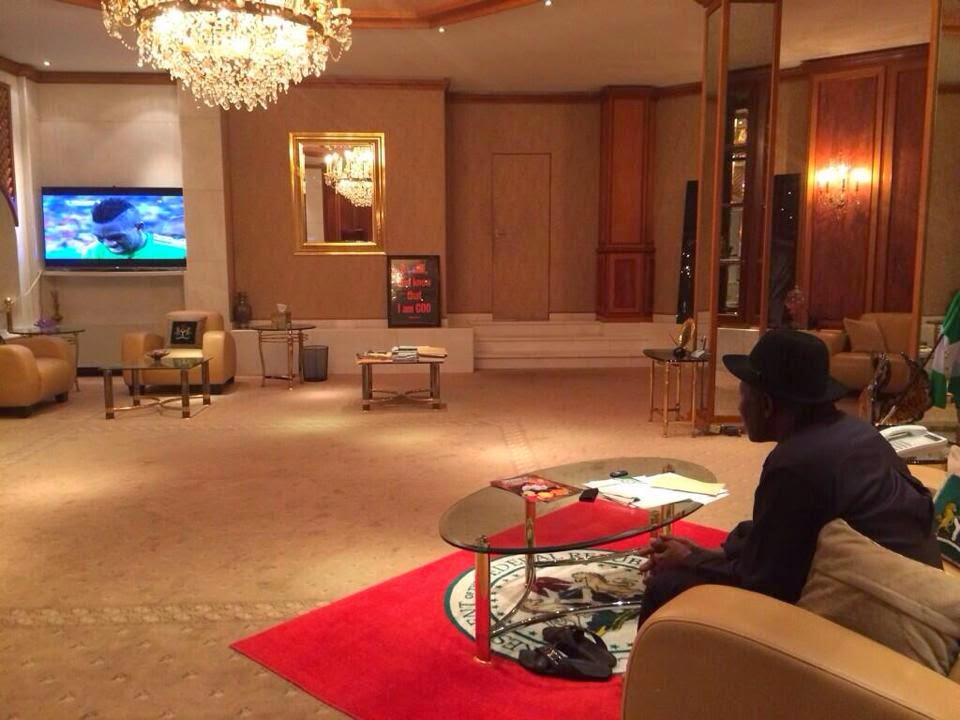 President Jonathan Watching Football
