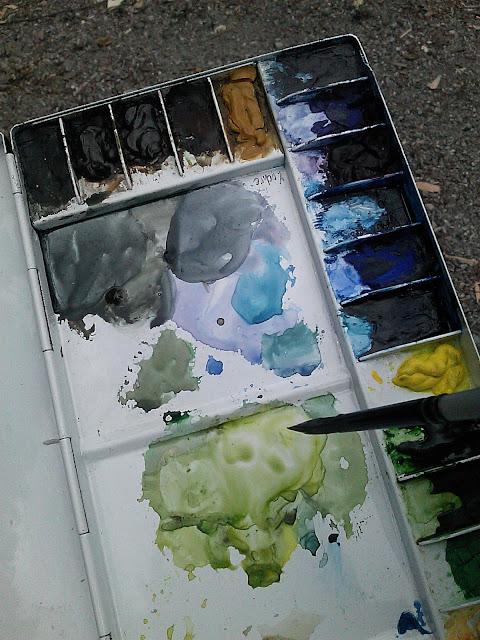 folding metal watercolor palette for travel art kit