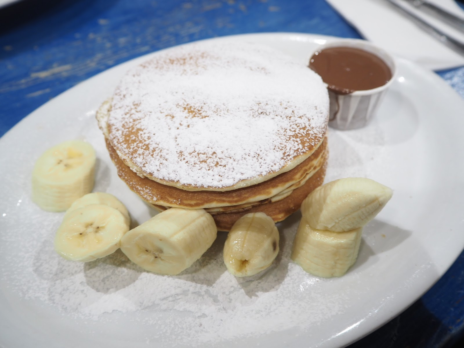 nutella and banana pancakes